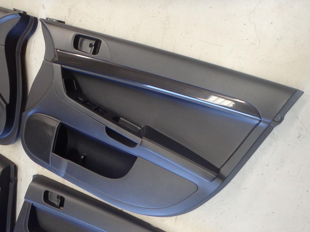 Mitsubishi Lancer Evo X 10 Cz4a Interior Door Card Panel Trim Set Leather Ebay