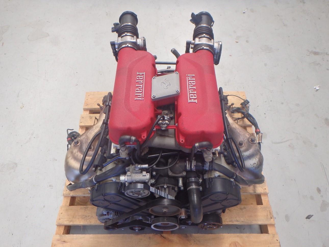 Details About Ferrari 360 Modena V8 F131 Complete Engine Motor All Accessories Loom Ecu J079