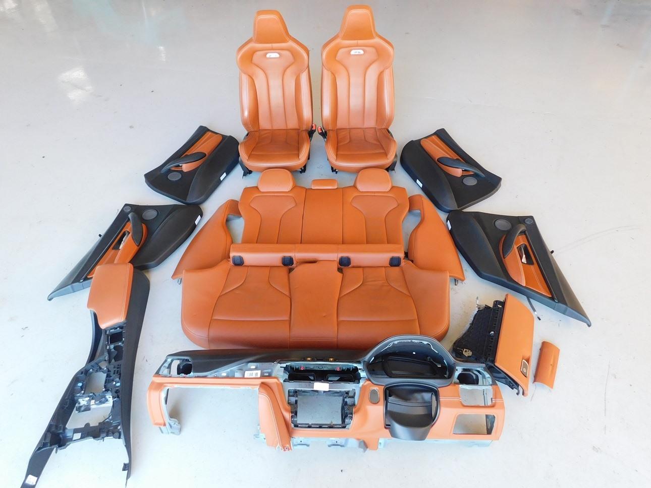 Bmw M3 F80 2015 Interior Leather Seats Door Trim Dash Console Set J093 Ebay